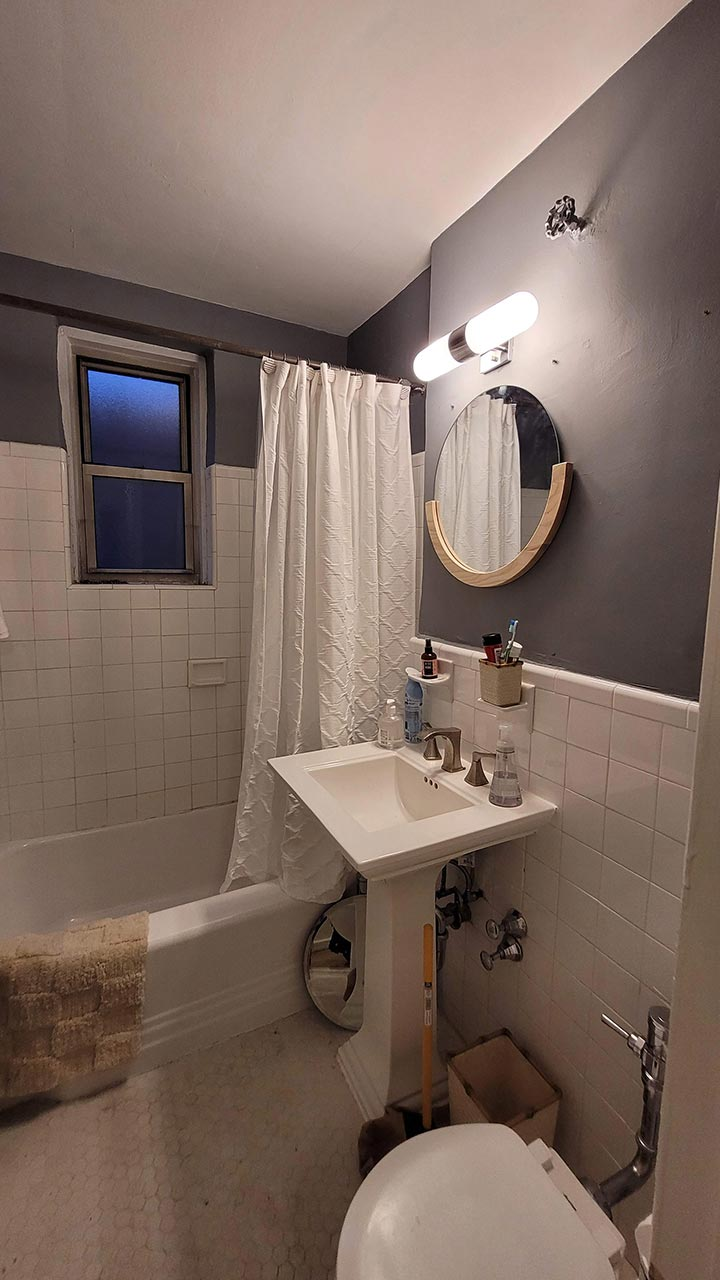 BEFORE PIC OF BATHROOM AT 340 HAVEN AVE